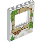 LEGO Panel 1 x 6 x 6 with Window Cutout with Wooden window frame (15627 / 19701)