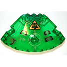 LEGO Panel 10 x 10 x 2.33 Quarter Saucer Top with Arachnoid Star Base Right Side Decoration (30117)