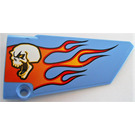 LEGO Panel 18 Right with Skull and Flames Sticker (64682)