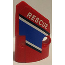"""LEGO Panel 2 Right with """"Rescue """" and Blue stripe  Sticker (87080)"""
