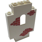 LEGO Panel 2 x 5 x 6 Wall with Red Bricks (4444)