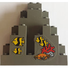 LEGO Panel 3 x 8 x 7 Rock Triangular with Sticker from Set 6442 (6083)