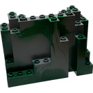 LEGO Panel 4 x 10 x 6 Rock Rectangular with Green Marbling (6082 / 60052)