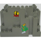 LEGO Panel 4 x 10 x 6 Rock Rectangular with stickers from set 6560 (6082)
