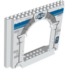LEGO Panel 4 x 16 x 10 with Gate Hole with Decoration (15626 / 16328)