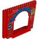 LEGO Panel 4 x 16 x 10 with Gate Hole with Decoration (15626 / 21361)