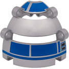 LEGO Panel Dome 6 x 6 x 5 2/3 with R2-D2 Head Decoration from Set 9748
