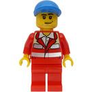 LEGO Paramedic in red uniform, blue ball cap Minifigure
