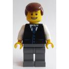 LEGO Passenger / Businessman with Black Vest, Striped Tie Minifigure