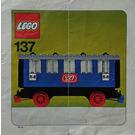 LEGO Passenger Sleeping Car Set 137-2 Instructions