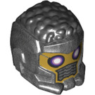 LEGO Pearl Dark Gray Space Helmet with Hair on Top (T'Challa Star-Lord)