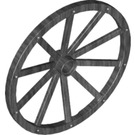 LEGO Pearl Dark Gray Wheel 3.2 x 56 with 10 Spokes Wooden (33212)