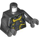 LEGO Pearl Dark Gray Yellow Jacket Minifig Torso (76382)