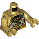 LEGO Pearl Gold Aspheera Minifig Torso (76382)