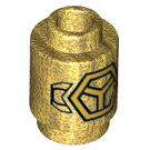 LEGO Pearl Gold Brick 1 x 1 Round with Hexagon and Wings with Open Stud (36812)