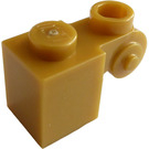 LEGO Pearl Gold Brick 1 x 1 x 2 with Scroll and Open Stud (20310)