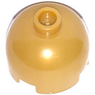 LEGO Pearl Gold Brick 2 x 2 Round with Dome Top (Safety Stud with Bottom Axle Holder x Shape   Orientation) (30367)
