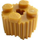 LEGO Pearl Gold Brick 2 x 2 Round with Grille (92947)