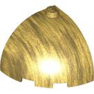 LEGO Pearl Gold Brick Corner Curved Quarter Dome 3 x 3 x 2 (88293)