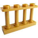 LEGO Pearl Gold Fence Spindled 1 x 4 x 2 with 4 Top Studs (15332)