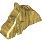 LEGO Pearl Gold Horse Battle Helmet (Angular) (48492)