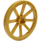 LEGO Pearl Gold Large Wagon Wheel (34mm) with Notched Hole (4489)