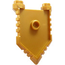 LEGO Pearl Gold Minifigure Shield with Handle and Two Studs (22408)
