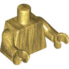LEGO Pearl Gold Pearl Gold Firefighter Statue Minifig Torso (76382)