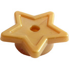 LEGO Pearl Gold Plate 1 x 1 Round with Star (11609 / 28619)
