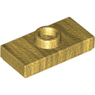 LEGO Pearl Gold Plate 1 x 2 with 1 Stud (with Bottom Groove) (3794)