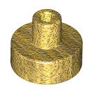 LEGO Pearl Gold Round Tile 1 x 1 with Hollow Bar (20482 / 31561)