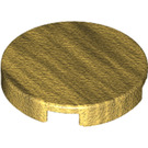 LEGO Pearl Gold Round Tile 2 x 2 with Bottom Stud Holder (14769)