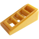 LEGO Pearl Gold Slope 1 x 2 x 0.6 (18°) with Grille (61409)