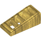 LEGO Pearl Gold Slope 18° 2 x 1 x 2/3 Grille (61409)