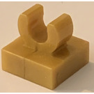 "LEGO Pearl Gold Tile 1 x 1 with Clip (Raised ""C"") (15712 / 44842)"