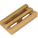 LEGO Pearl Gold Tile 1 x 2 Grille (with Bottom Groove) (2412 / 72582)