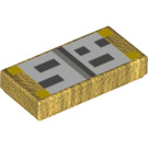 LEGO Tile 1 x 2 with Decoration with Groove (30889)