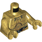 LEGO Pearl Gold Torso C-3PO with Red and White Wires Pattern (76382)