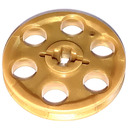 LEGO Pearl Gold Wedge Belt Wheel (4185 / 49750)