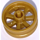 LEGO Pearl Gold Wheel Rim Ø14.6 x 6 with Spokes and Stub Axles (50862)
