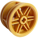 LEGO Pearl Gold Wheel Rim Ø30 x 20 with No Pinholes, with Reinforced Rim (56145)