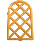 LEGO Pearl Gold Window 1 x 2 x 2.667 Pane Lattice Diamond with Rounded Top (29170 / 30046)