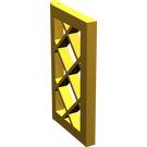 LEGO Pearl Gold Window 1 x 2 x 3 Latticed Pane (Unreinforced) (60607)