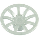 LEGO Pearl Light Gray Hub Cap with Curved Bars (62701)