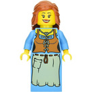 LEGO Peasant Smiling with Dark Orange Hair Minifigure