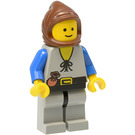 LEGO Peasant with Brown Hood Minifigure