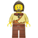 LEGO Peasant with Dark Brown Hood, Tan Shirt and Reddish Brown Legs Minifigure