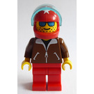 LEGO Person with Brown Jacket and Red Helmet with White Stars Minifigure