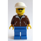 LEGO Person with Brown Jacket, White Cap Minifigure