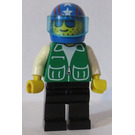 LEGO Person with Green Jacket with Blue Helmet with Stars Minifigure
